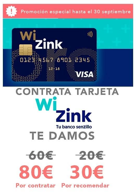 Promocion tarjeta WiZink 105 euros